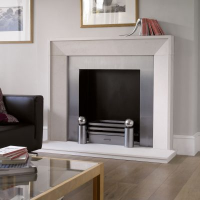 Sloane room set fireplace