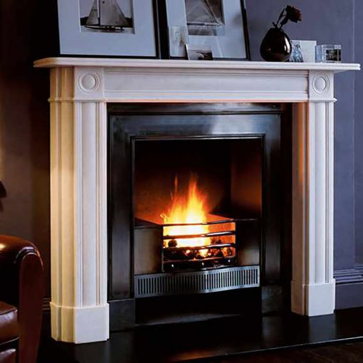The Marble Regency Bullseye fireplace