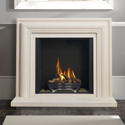 Infinity 880FL Gas Fire with basket with ribbed black liners
