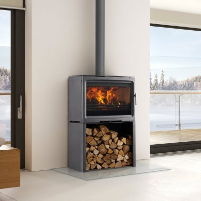 Purevision 8.5kW Freestanding with Log Stand Ecodesign Ready